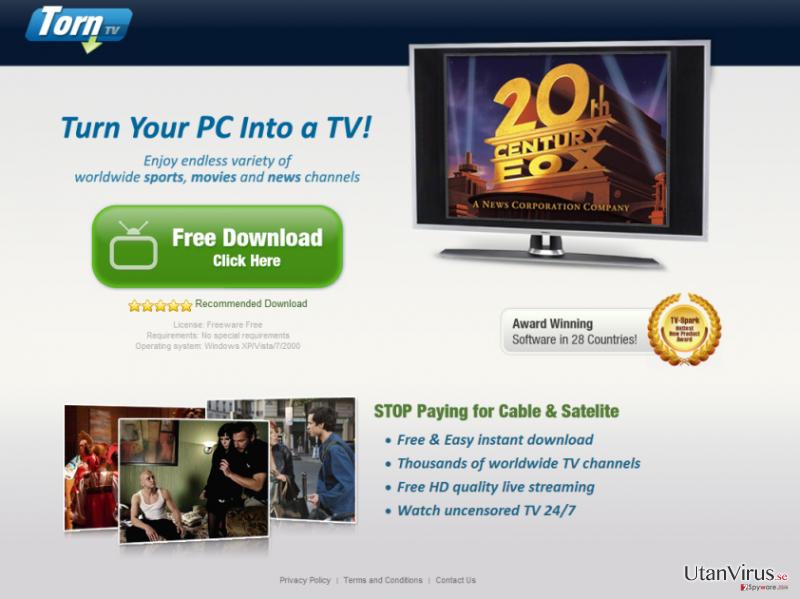 TornTV malware ögonblicksbild