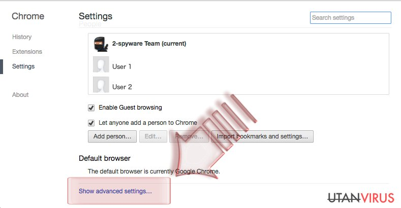 Hur återställer man Google Chrome? ögonblicksbild