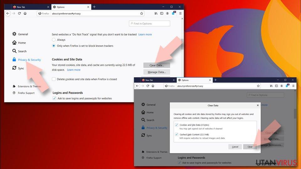 Ställ om Mozilla Firefox