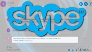 Skadliga länkar signalerar ytterligare ett utbrott av Skype-viruset