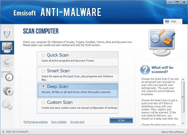 Emsisoft Anti Malware ögonblicksbild