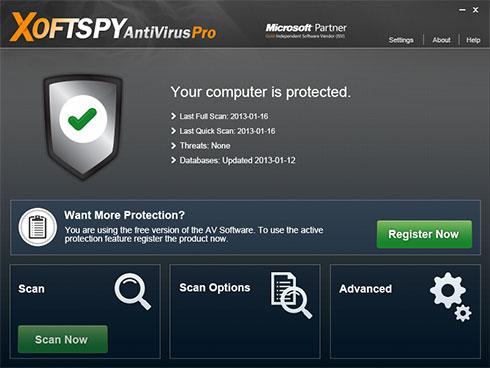 XoftSpySE Anti Spyware ögonblicksbild