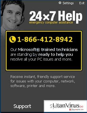 24x7 Help ögonblicksbild