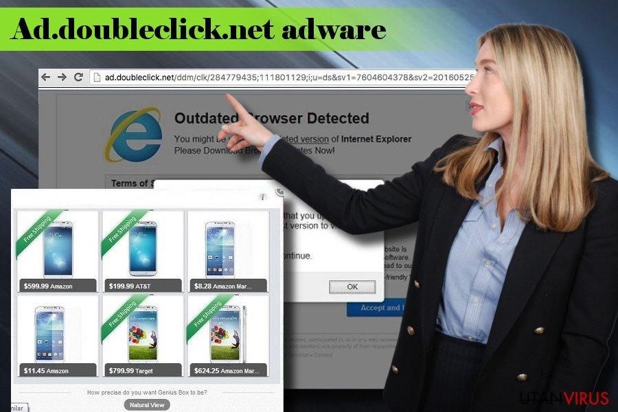 Illustrerar Ad.doubleclick.net annonsprogram