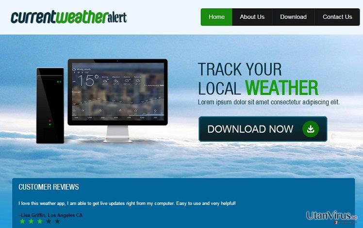 Annonser från Current Weather Alert ögonblicksbild