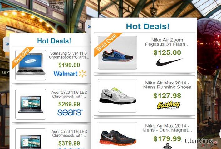 Annonser från Deals Finder ögonblicksbild