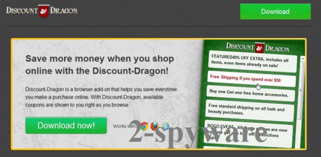 'Ads by Discount Dragon' virus ögonblicksbild