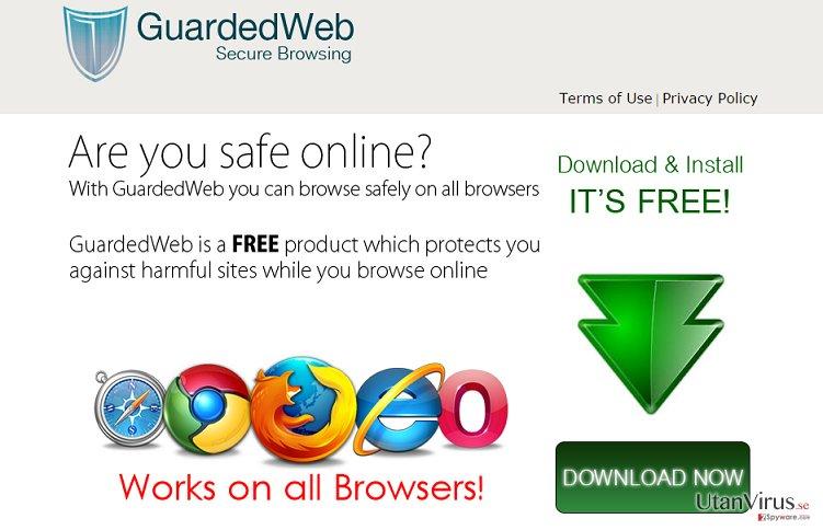 Annonser från GuardedWeb ögonblicksbild