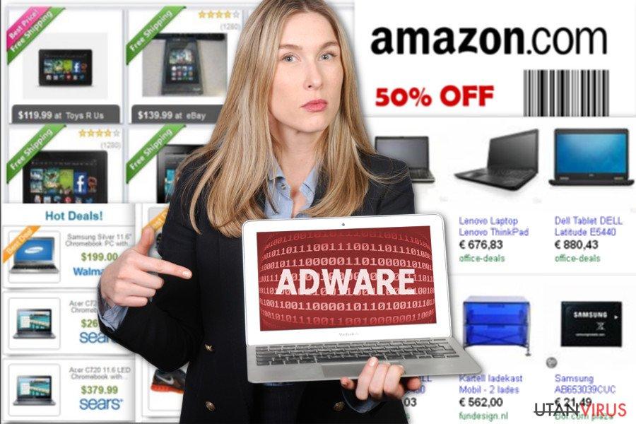 Annonser från NewTab ögonblicksbild