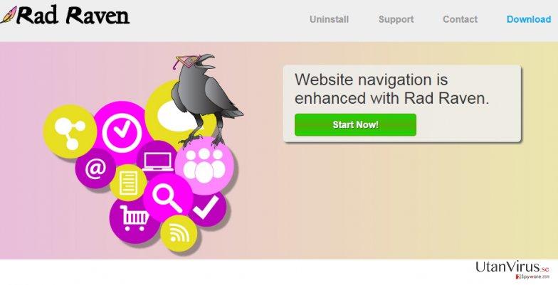 Annonser från Rad Raven ögonblicksbild