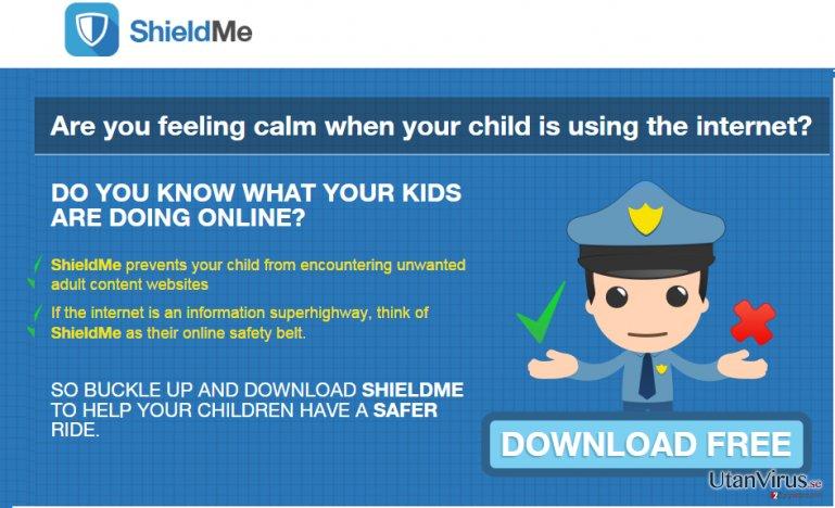Annonser från ShieldMe ögonblicksbild