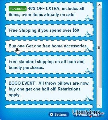Annonser från Shoppy ögonblicksbild