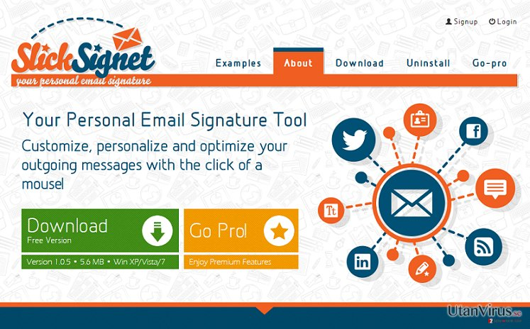 Annonser från SlickSignet ögonblicksbild