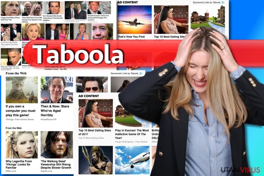 Taboola-annonser ögonblicksbild