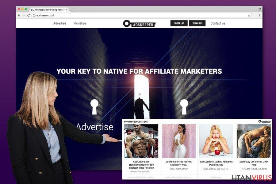 Bildexempel på AdsKeeper-annonser