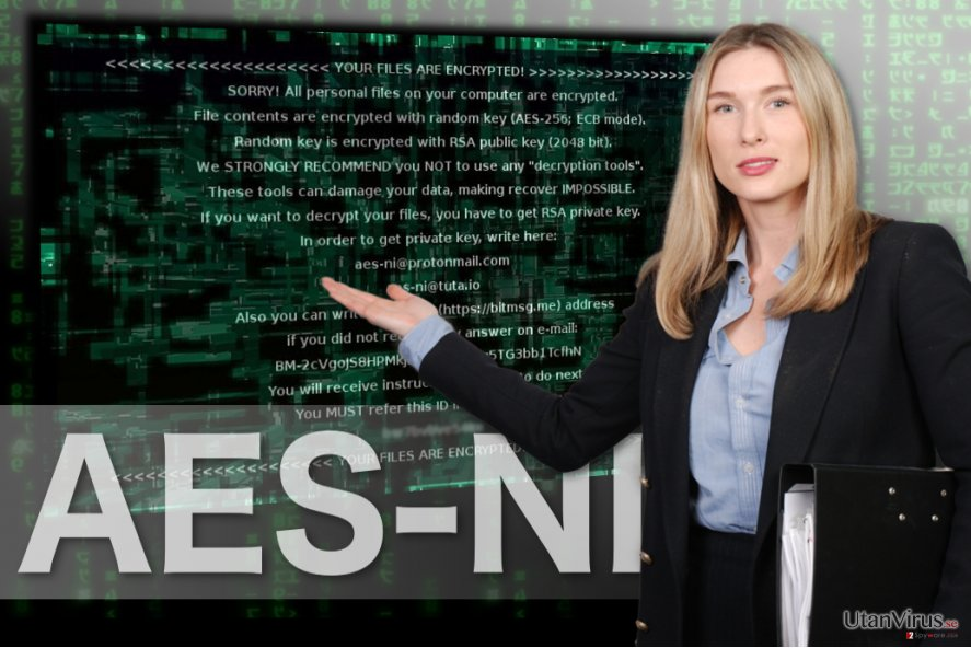 Bildexempel på AES-NI ransomware