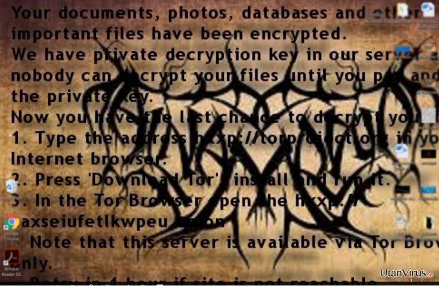 Al-Namroods ransom-meddelande