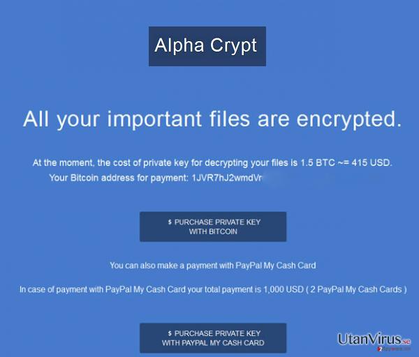 Viruset Alpha Crypt ögonblicksbild