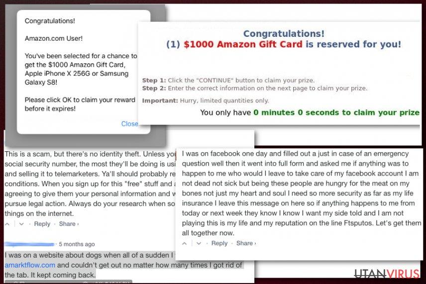 Amarktflow falsk belöningskampanj