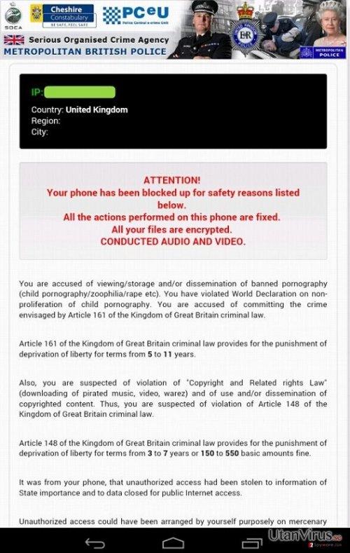 Android Police-Virus ögonblicksbild