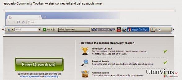 Appbario toolbar ögonblicksbild