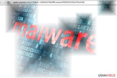 Skärmdump av Apple-panda.com-viruset