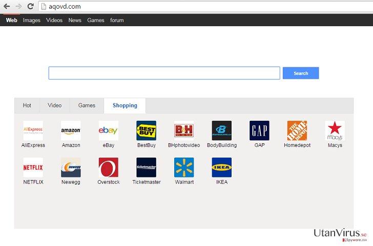 viruset Aqovd.com ögonblicksbild