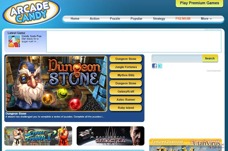 Arcade Candy-annonser ögonblicksbild