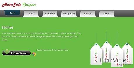 AutoSale Coupon annonsprogram ögonblicksbild