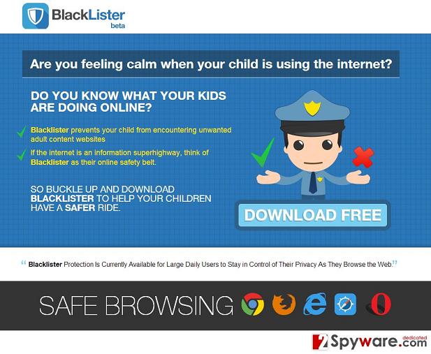 Annonser från BlackLister ögonblicksbild