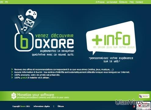 Annonser från Boxore ögonblicksbild