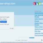 Annonsprogrammet Browser Shop ögonblicksbild