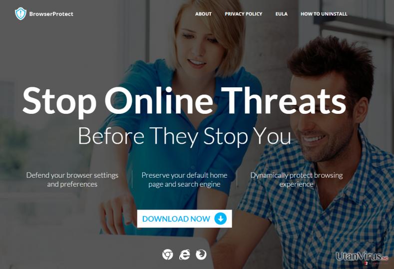 Annonsprogrammet BrowserProtect ögonblicksbild