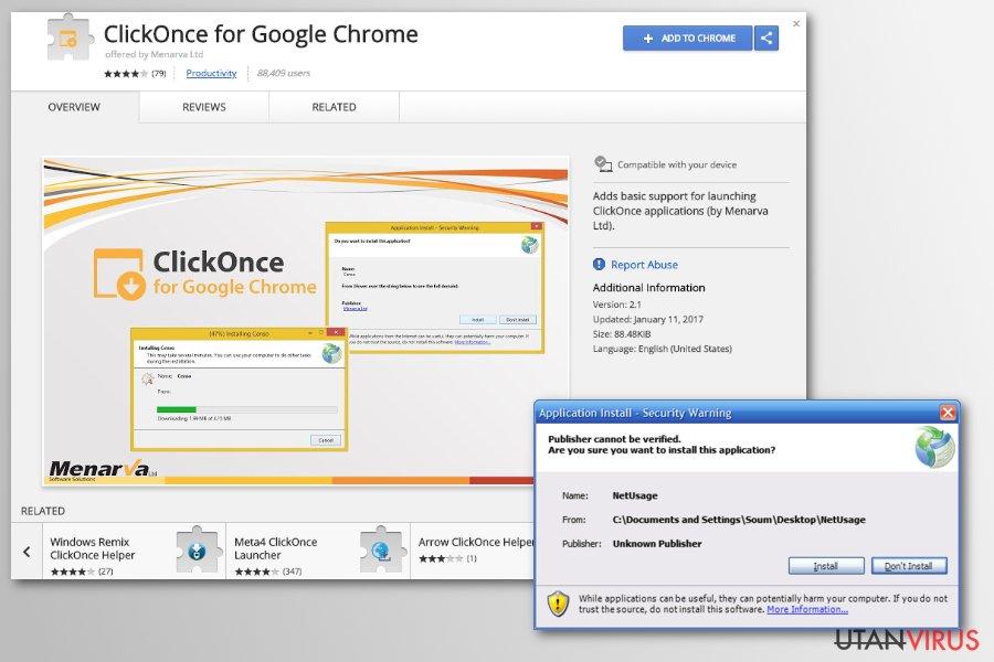 Chrome redirect viruset ögonblicksbild
