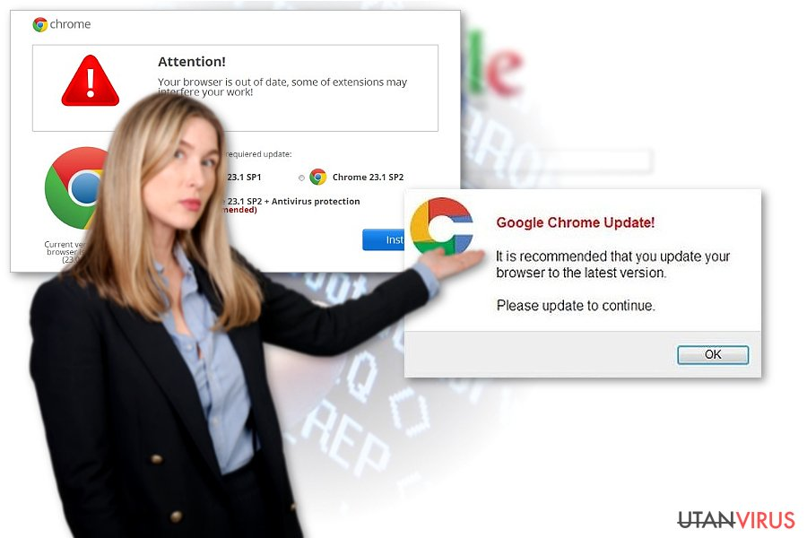 Chrome redirect viruset ögonblicksbild