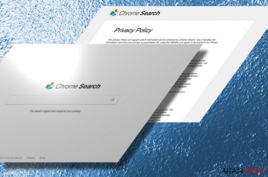 Bildexempel på webbläsarkaparen Chromesearch.today