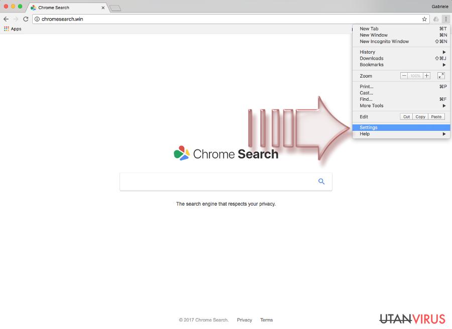 Chromesearch.win-viruset ögonblicksbild