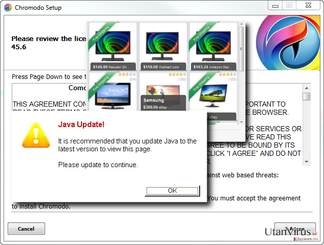 Chromodo virus hijacks a default browser