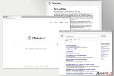 Bildexempel på Cleanserp.net-viruset