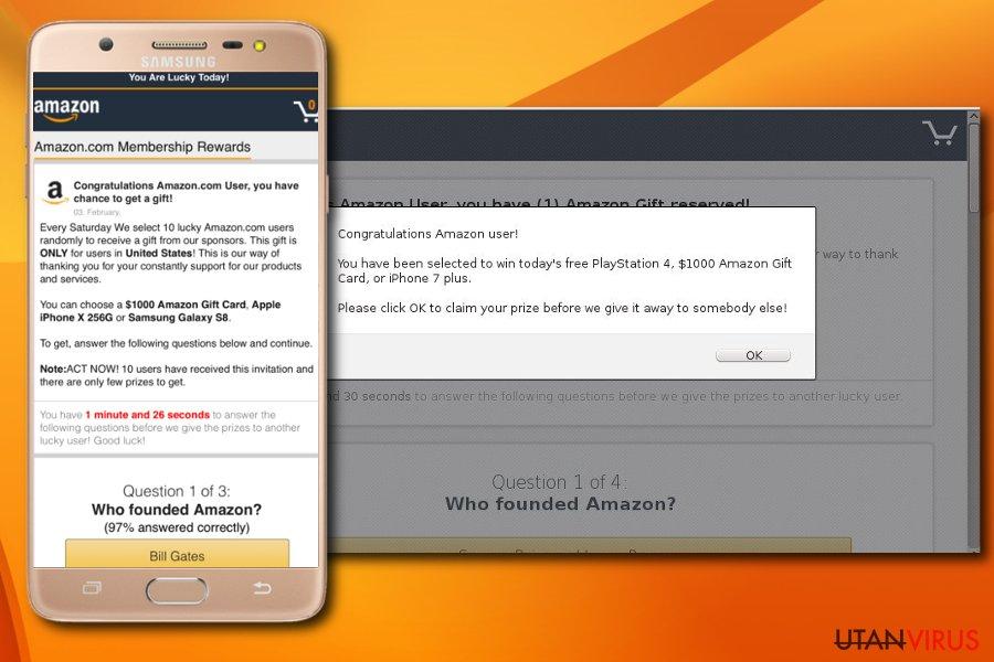 """""""Grattis Amazon Användare"""" undersökning bedrägeri"""