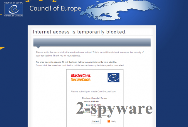 Council of Europe virus ögonblicksbild