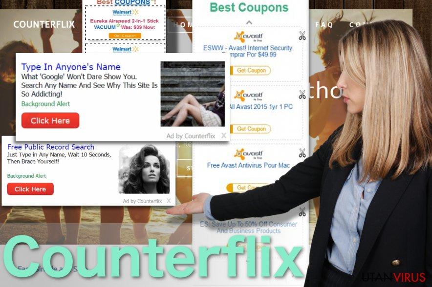 Bildexempel på Counterflix-annonser