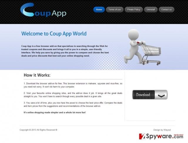 Annonser från Coup App ögonblicksbild