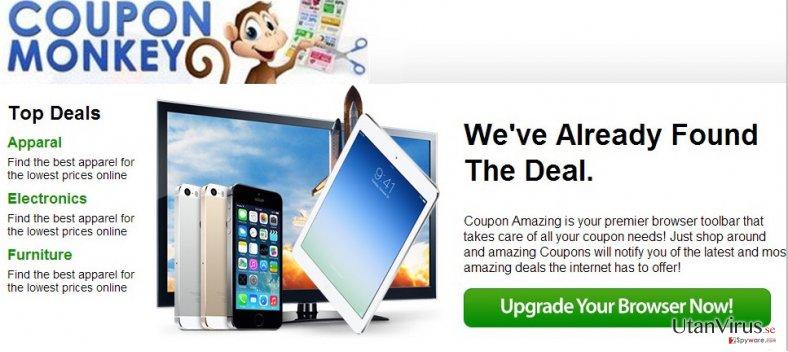 Coupon Monkey annonser ögonblicksbild
