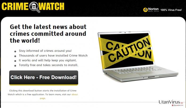 Annonser från Crime Watch ögonblicksbild