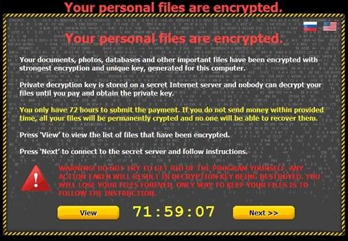Critroni Ransomware ögonblicksbild