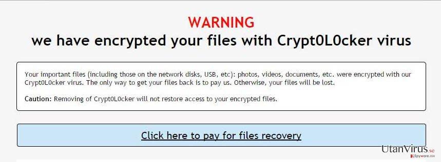 Viruset Crypt0L0cker ögonblicksbild