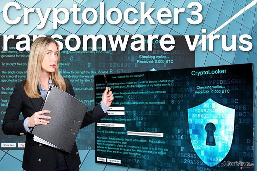 Bildexempel på Cryptolocker3 ransomware