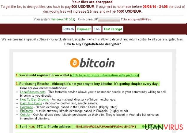 Cryptolocker ögonblicksbild