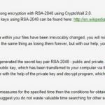 Viruset CryptoWall 2.0 ögonblicksbild